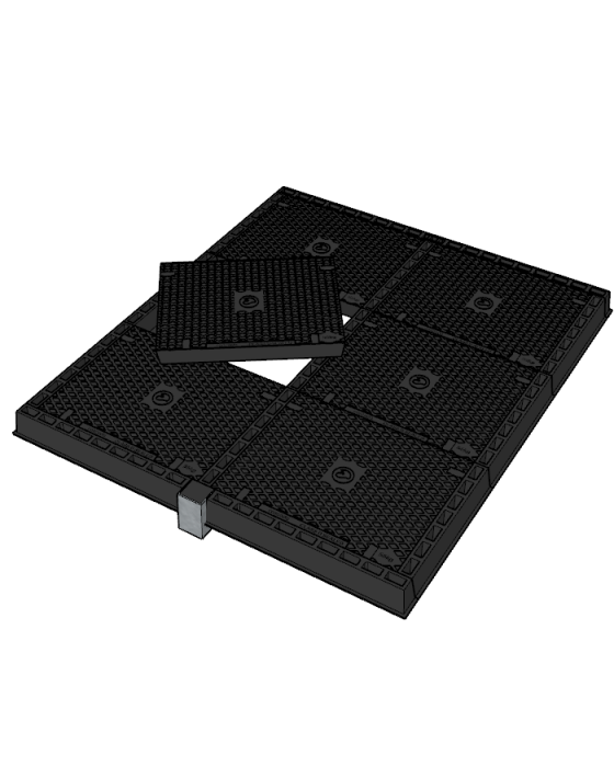 Solid Top Multipart Class D Access Covers